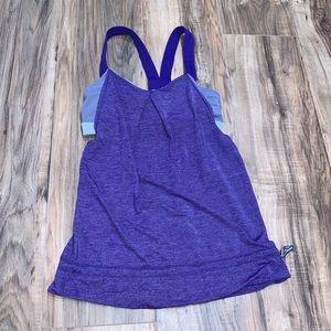 Lululemon purple workout tank top